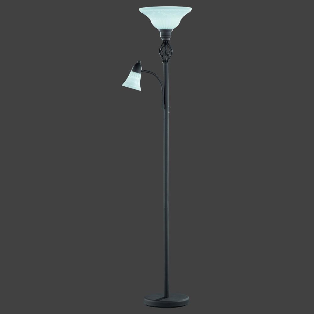 eine besondere stehlampe in antiker rostfarbe. Black Bedroom Furniture Sets. Home Design Ideas
