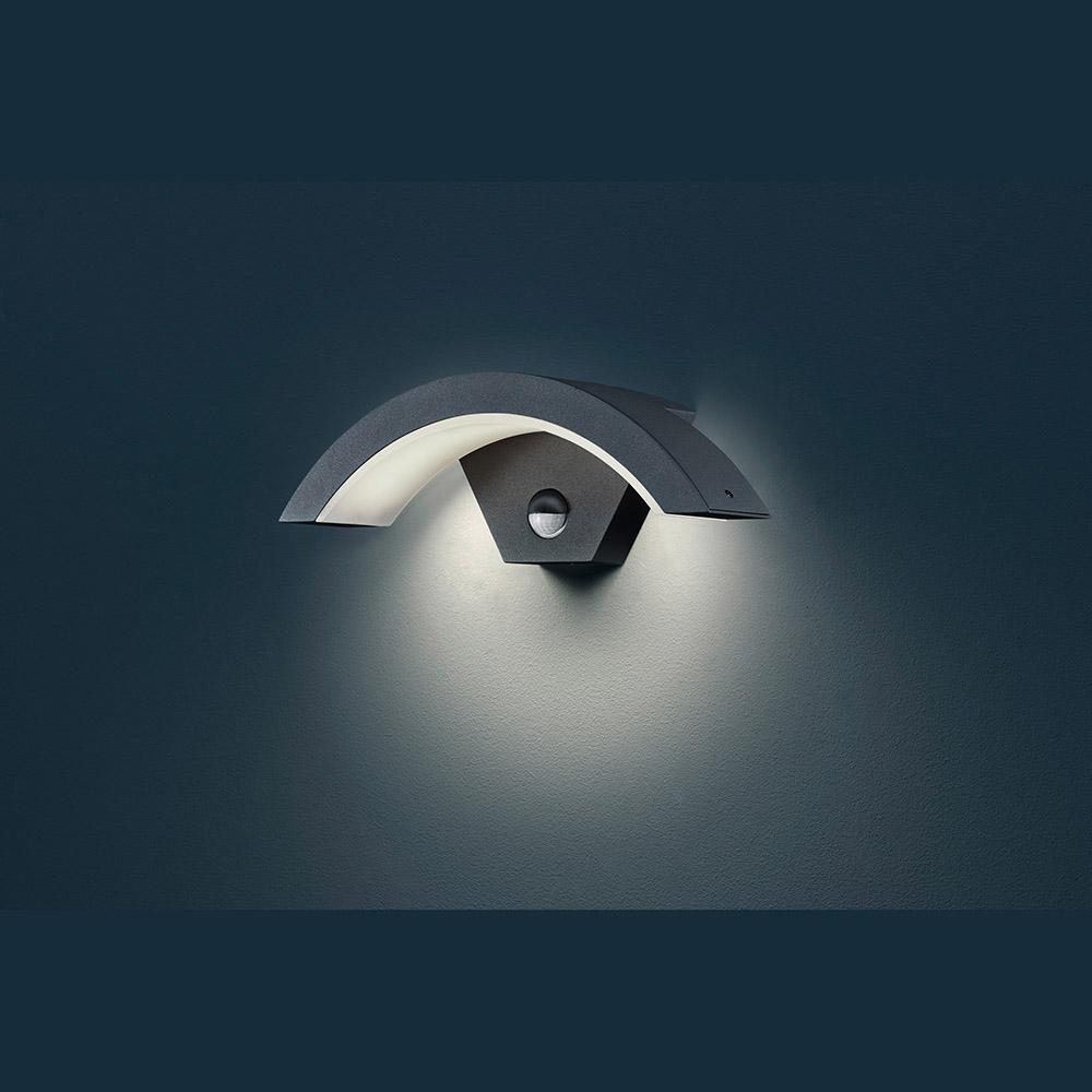 wandlampe led bewegungsmelder baldachin schwarz. Black Bedroom Furniture Sets. Home Design Ideas