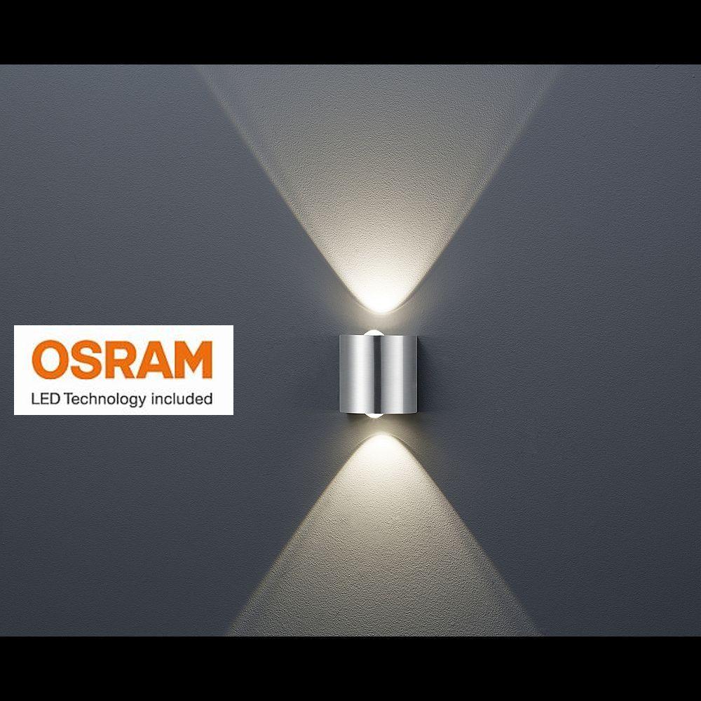 designer wandleuchte mit abstrahlung nach oben und unten mit led licht. Black Bedroom Furniture Sets. Home Design Ideas