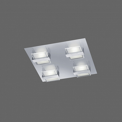 Zürich LED-Deckenlampe chrom/ALU LED