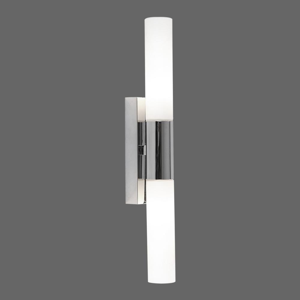Badezimmer- Wandlampe, zweiflammig mit LED 19 cm lang