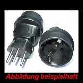 Stecker Adapter in schwarz