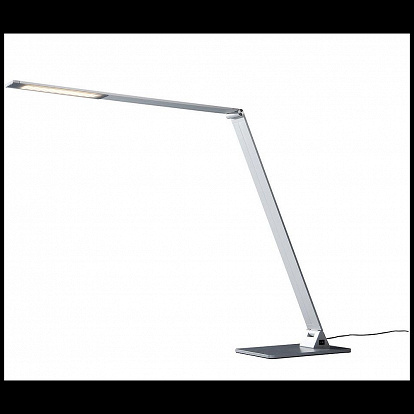 LED Tischlampe in Aluminium neigbar