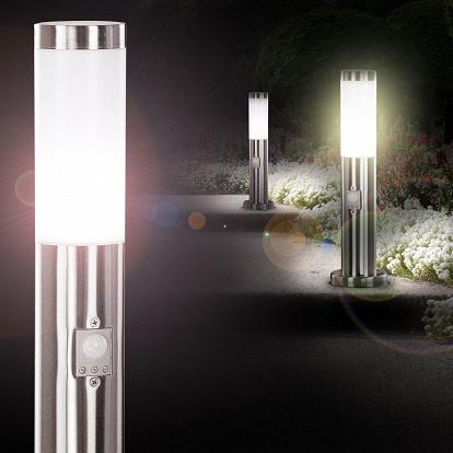 gartenleuchte aussen stehlampe mit bewegungs sensor. Black Bedroom Furniture Sets. Home Design Ideas