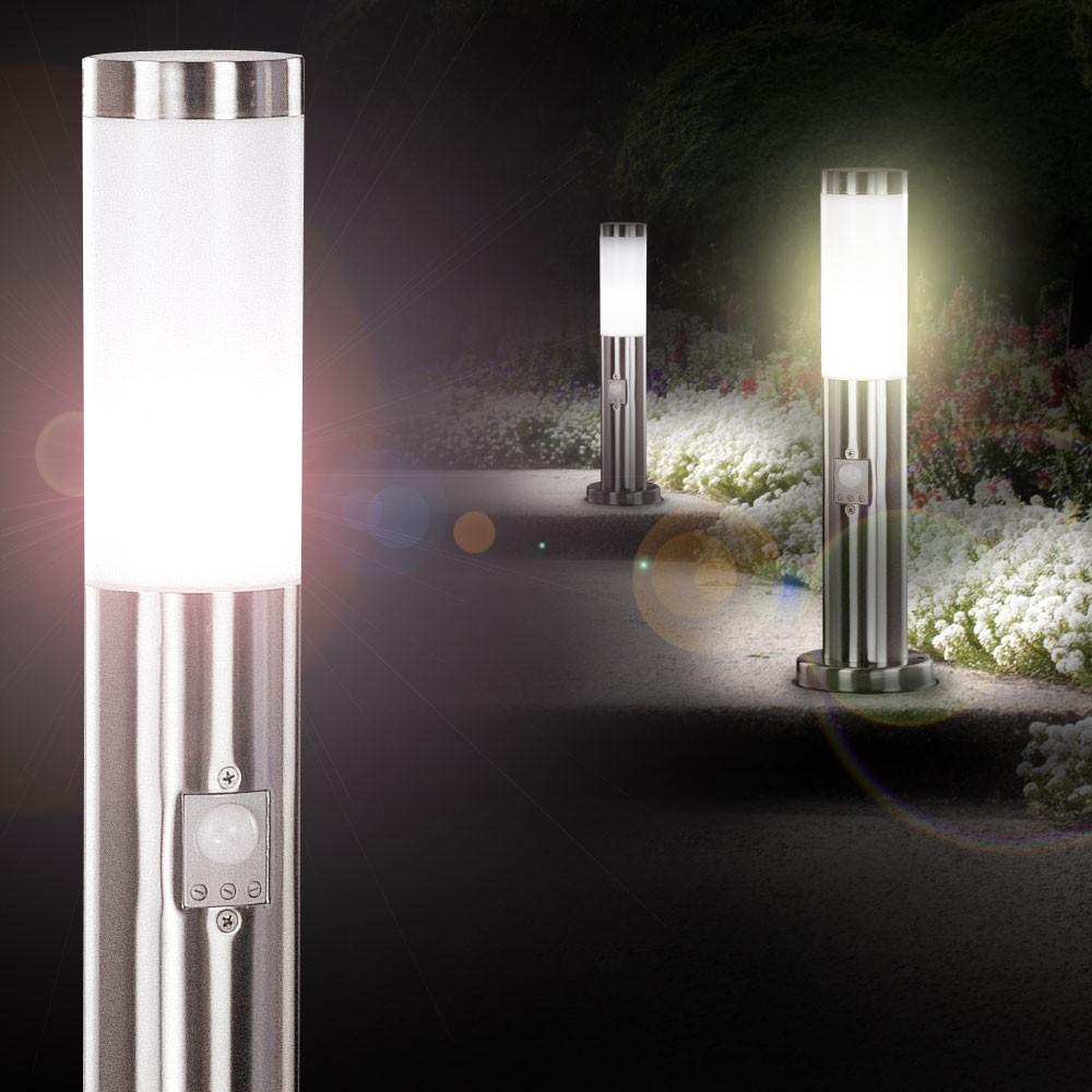 Gartenleuchte Aussen Stehlampe Mit Bewegungs Sensor