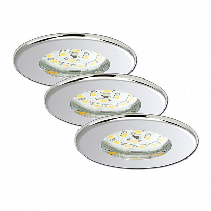 LED Einbauspot chrom 3er Set