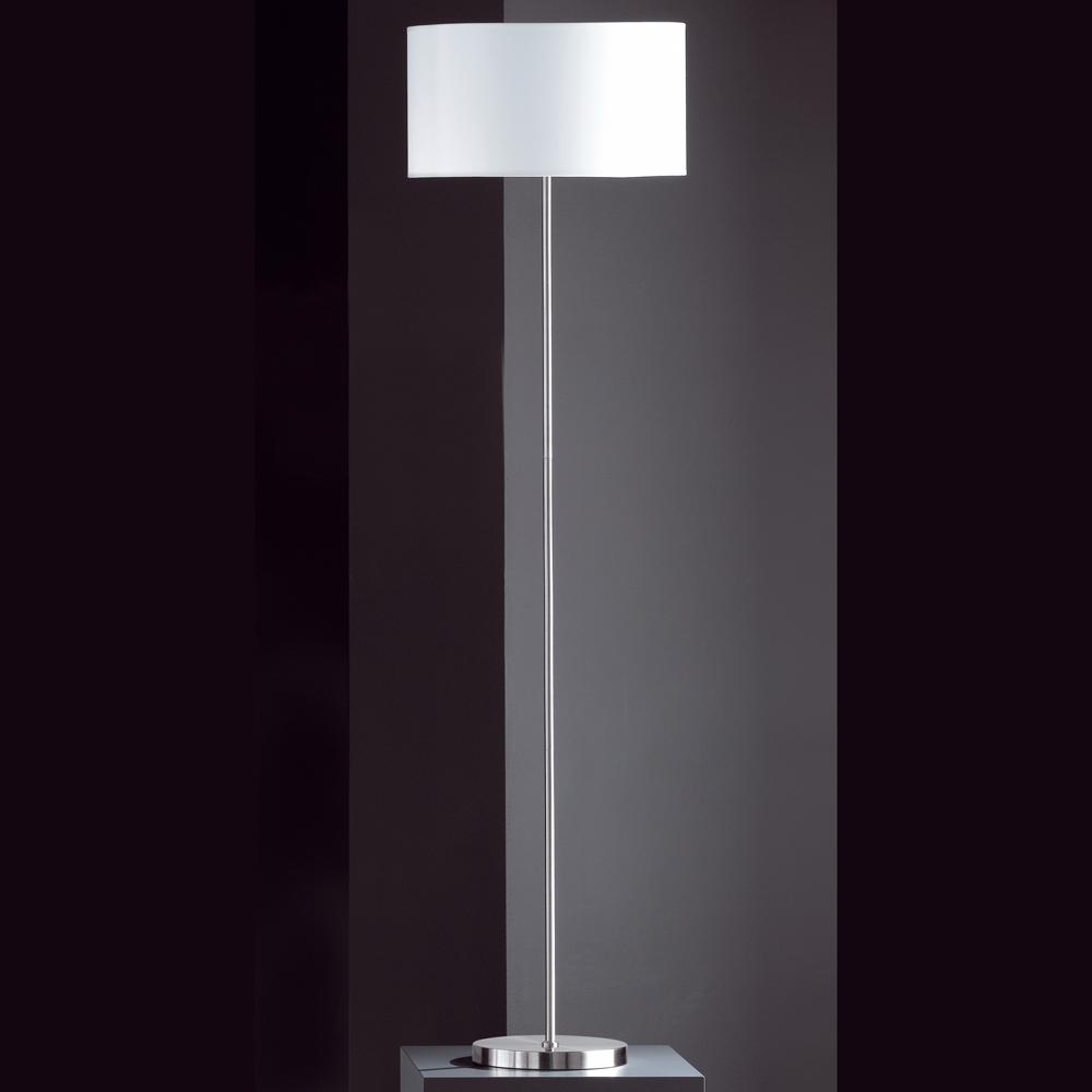 Modern Elegante Stehlampe Mattnickel