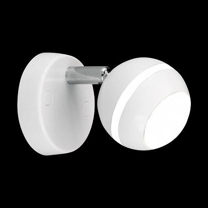 """BOWL"" WHITE LED 1-FLAMMIG"