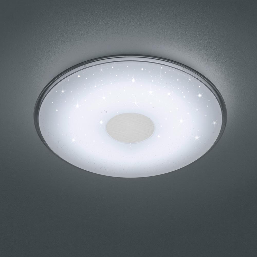 edle LED Deckenleuchte mit Fernbedienung und Sternenhimmel 17 cm