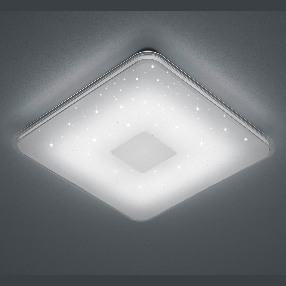 Quadratische Led Deckenleuchte Mit Sternenhimmel