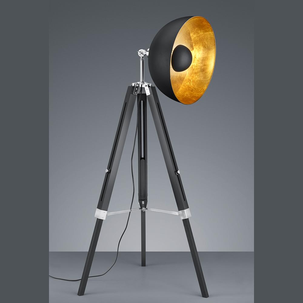 Schwarze Stehleuchte Im Fotolicht Design
