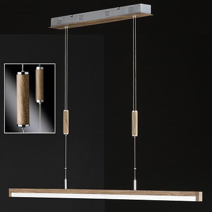 led pendelleuchte mit holzoptik. Black Bedroom Furniture Sets. Home Design Ideas