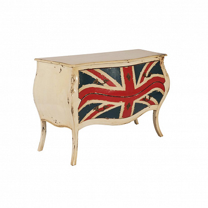 Antike Kommode mit Union Jack