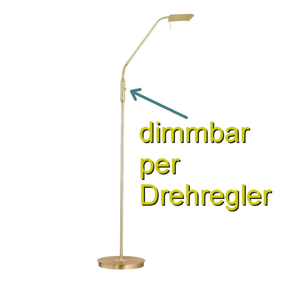 Led Stehleuchte Messing Inklusive Dimmer