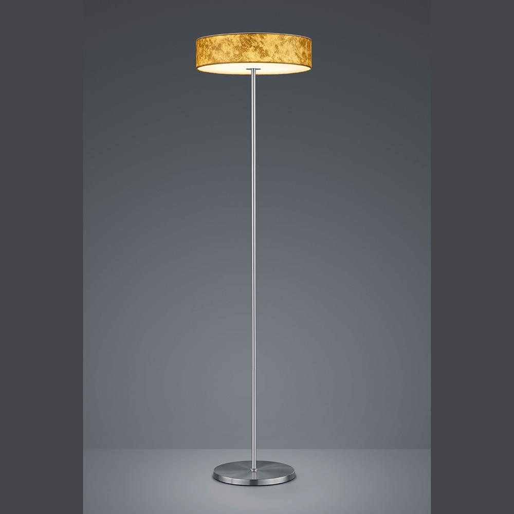Stehlampe Mit Led Lichtquelle Textil Lampenschirm