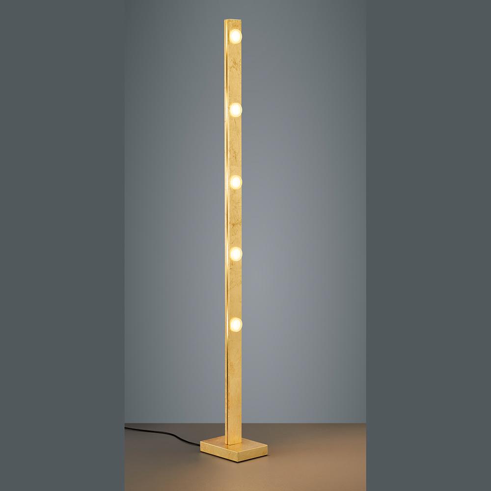 Goldene Stehlampe Mit Dimmer Und Lichtfarben Funktion Led