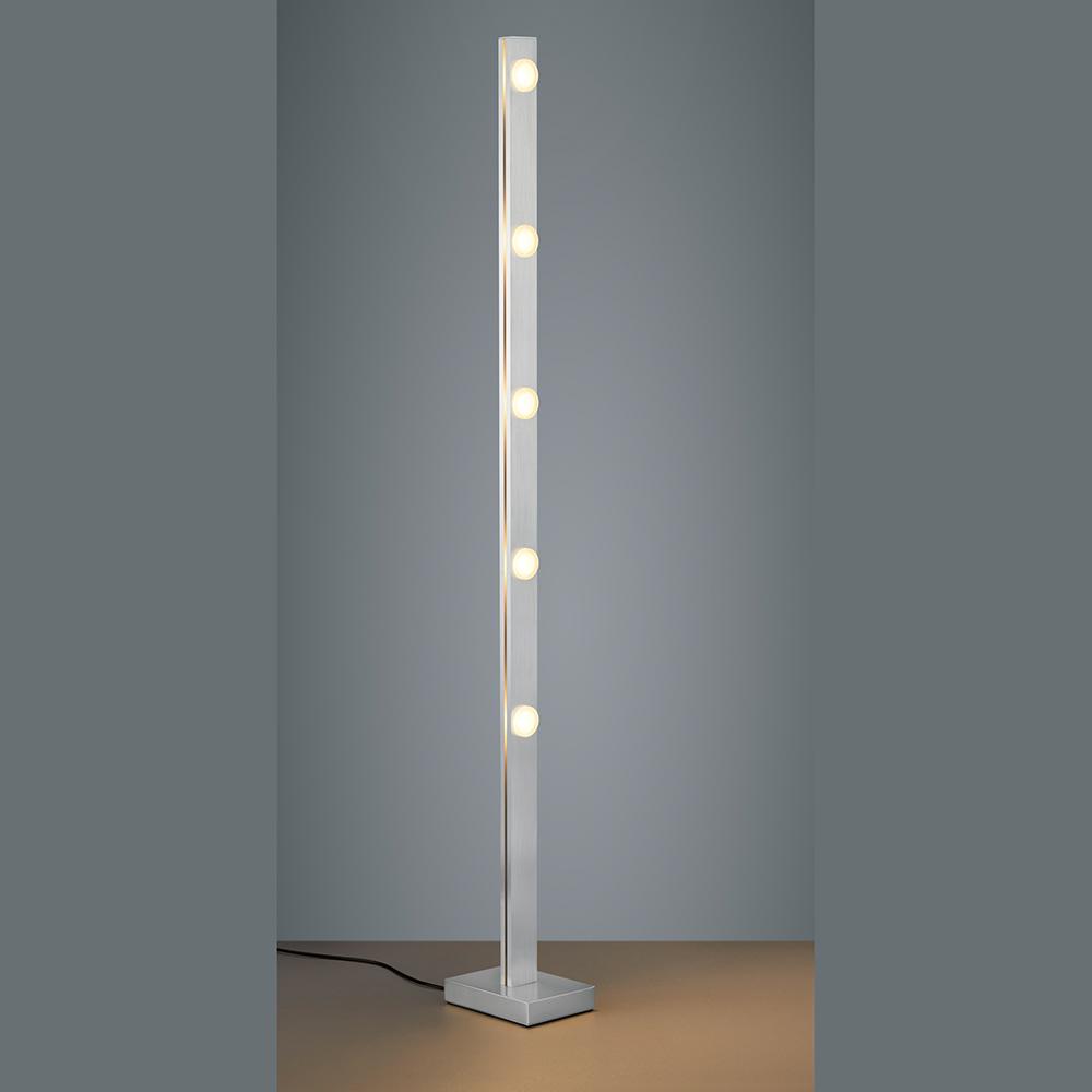 Stehlampe Led Dimmer In Stahlfarben Und Farbeinstellung