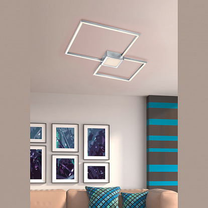 Designer Deckenlampe mit Easy Dimmer Funktion in Quadratform