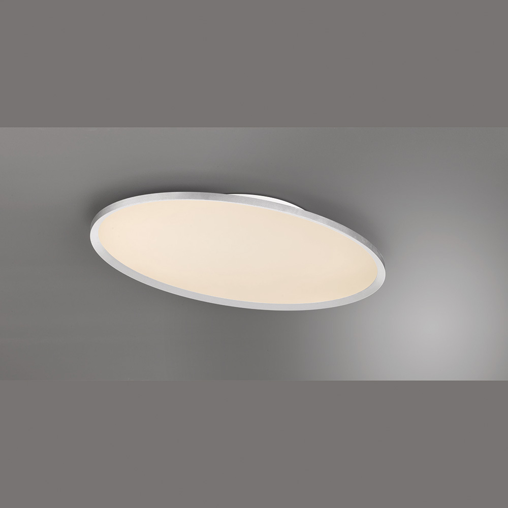 Ovale flache LED-Deckenleuchte mit Fernbedienung