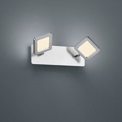 LED Deckenlampe in Chrom und mattnickel